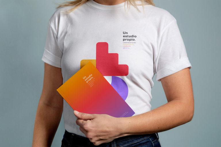 T-Shirt with Notebook Mockup